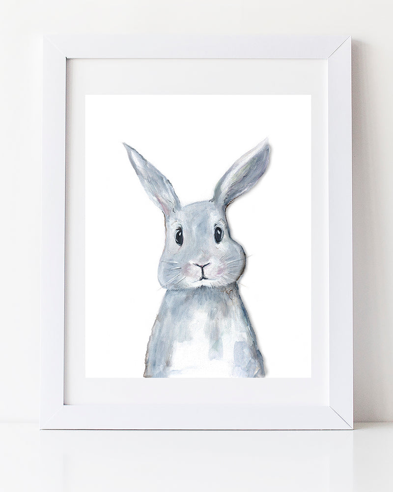 bunny art woodland decor art print