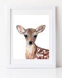 Baby deer nursery woodland decor by Liz Clay of Cici Art Factory