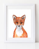 Baby fox art print by Vancouver Artist Liz Clay Woodland Nursery Decor
