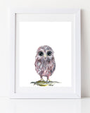 Owl woodland nursery art print by Liz Clay of Cici Art Factory