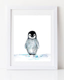Cute Baby Penguin Nursery Art Print