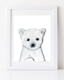 Polar Bear Cub Nursery Art Print by Vancouver artist Liz Clay