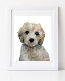 Puppy nursery art labradoodle cute