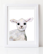 Baby sheep art print cute
