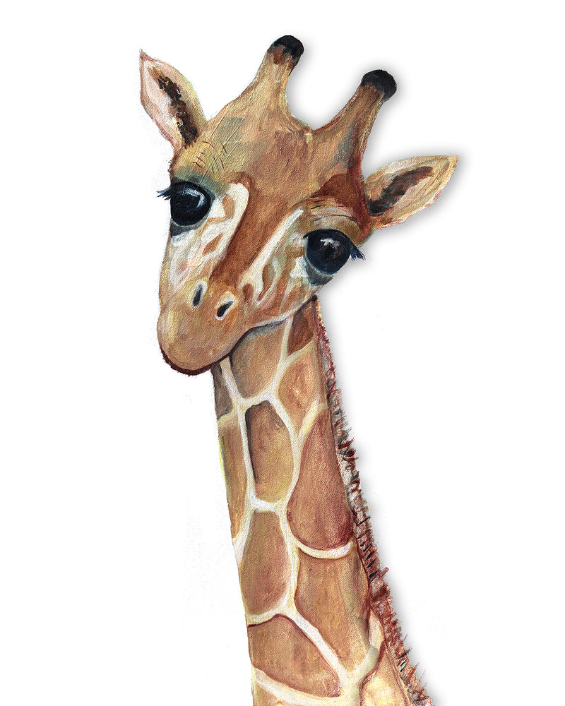 Baby Giraffe Safari Decor Art Print