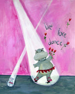 Live Love Dance - Baby Nursery Quote Art - Bunny Wall Decor for Baby