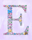 name nursery wall decor for kids by Liz Clay of Cici Art Factory