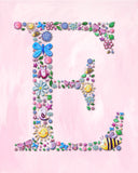 personalized name art for kids by Liz Clay of Cici Art Factory