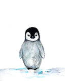 Baby Penguin Nursery Art Print