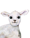 cute peekaboo lamb nursery art print by Cici Art Factory