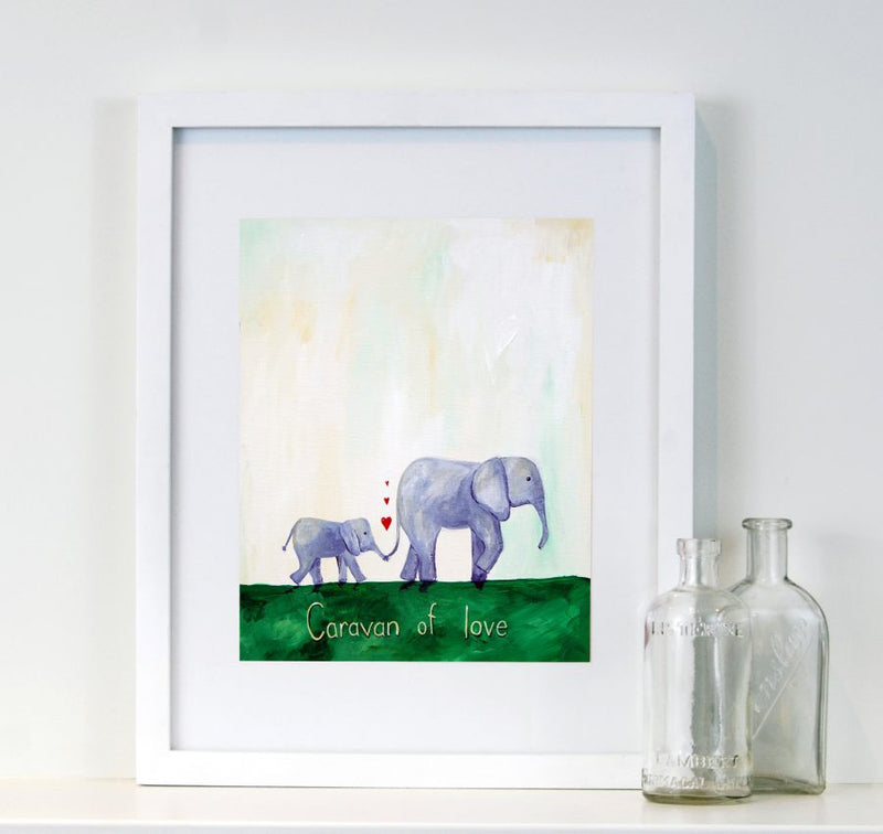 Caravan of Love  - Baby Nursery Quote Art