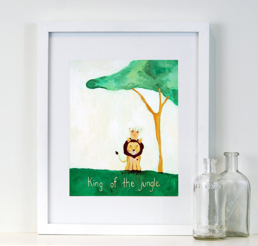 King of the Jungle - Baby Nursery Quote Art