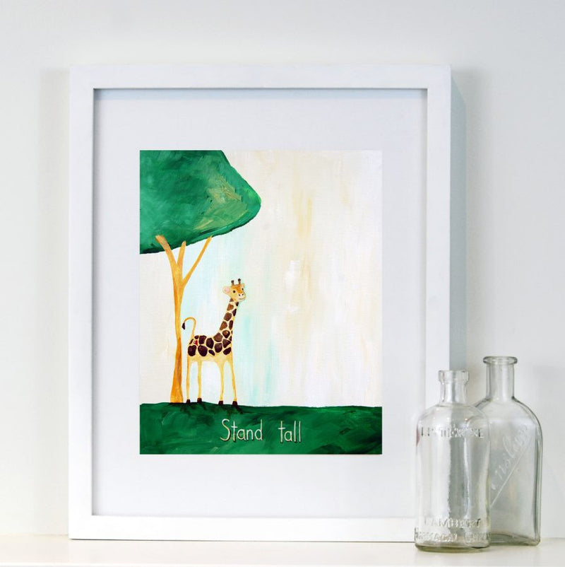 Stand Tall - Baby Nursery Quote Art