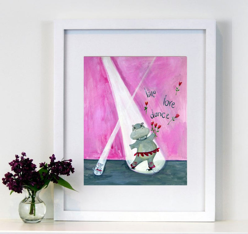 Live Love Dance - Baby Nursery Quote Art