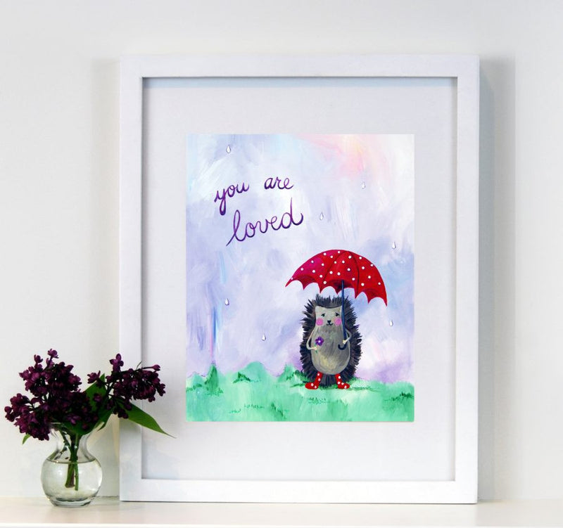 You are loved  - Baby Nursery Quote Art