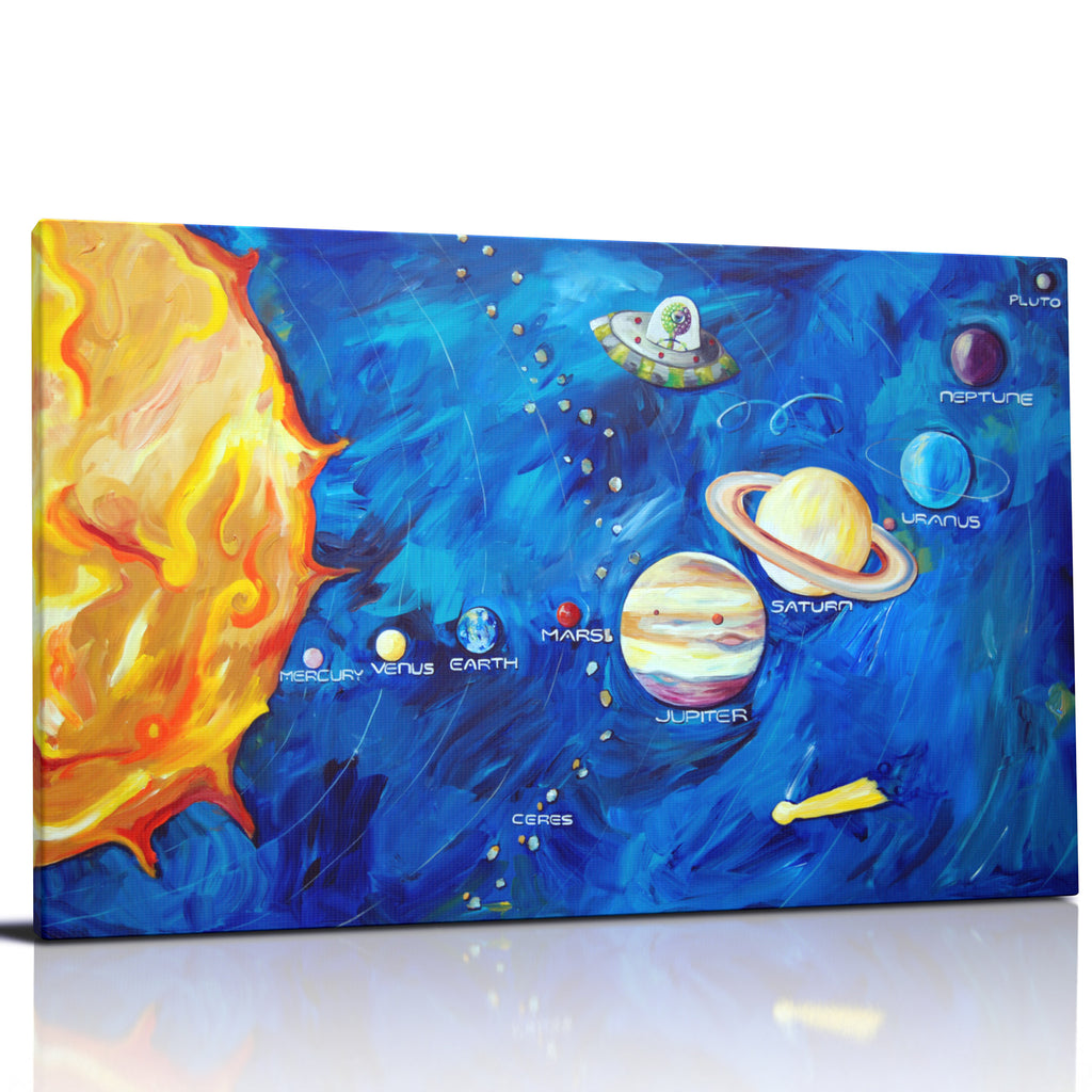 Solar System art for boys by Cici Art Factory