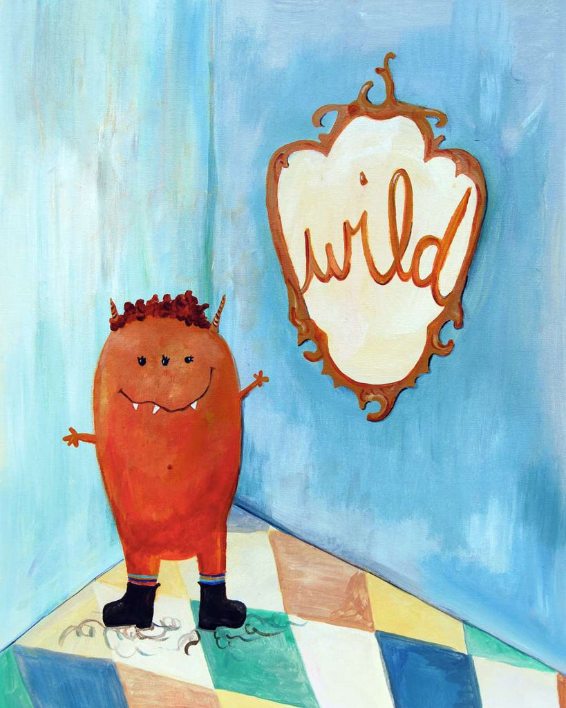 Wild - Baby Nursery Quote Art - Bunny Wall Decor for Baby