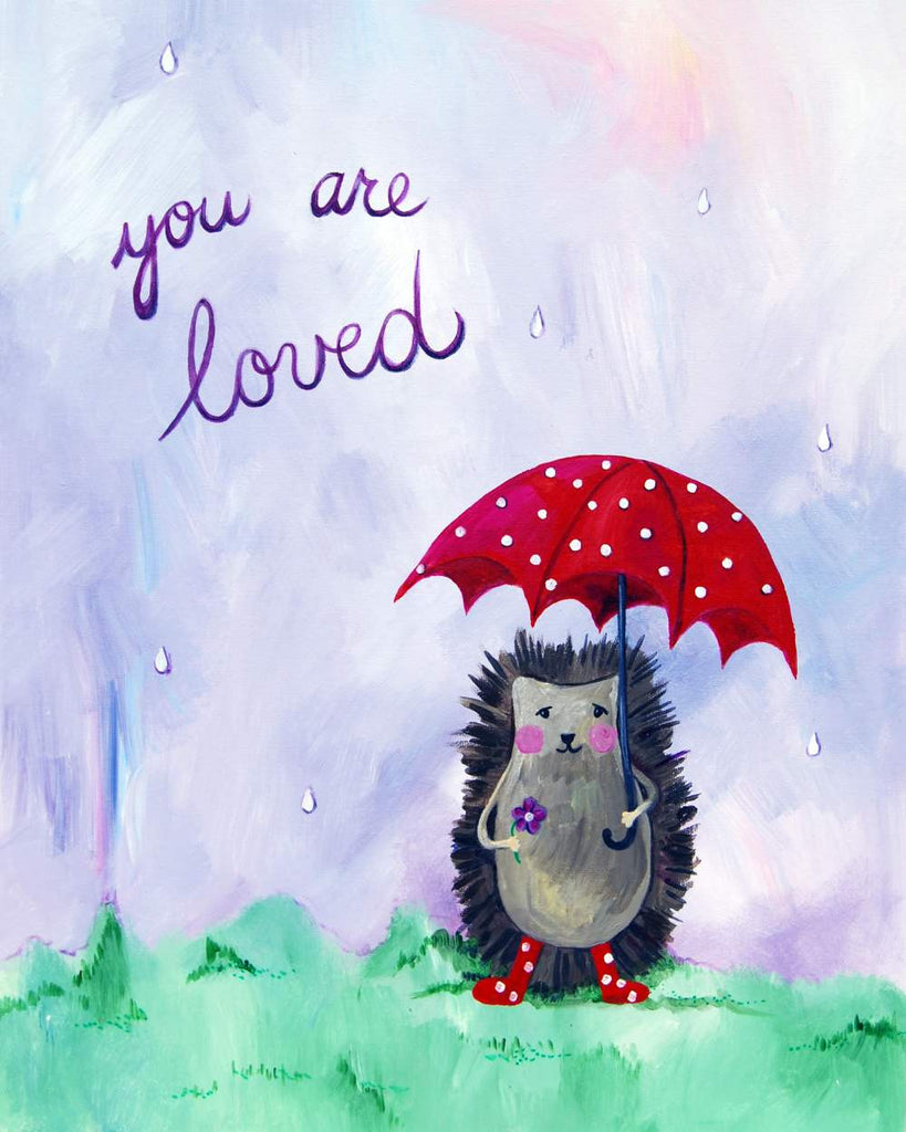 You are loved  - Baby Nursery Quote Art - Bunny Wall Decor for Baby