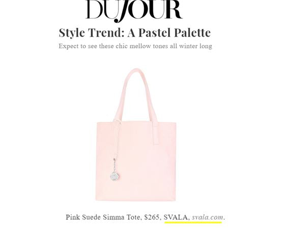 Svala pink Simma Tote featured in DuJour