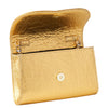 Svala vegan metallic gold pinatex mini Didi clutch