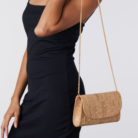 Didi Clutch Mini - Gold Speckled Cork
