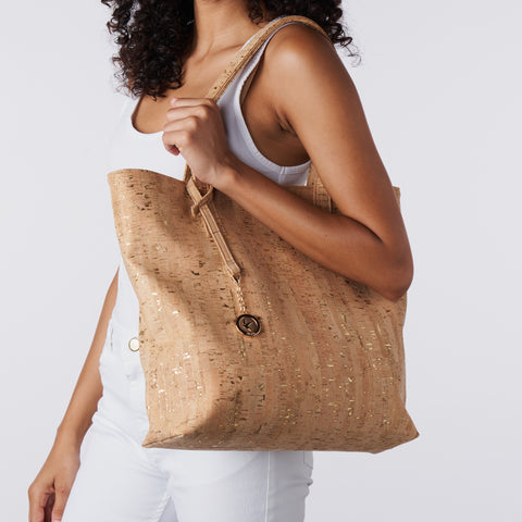 Simma Tote - Gold Speckled Cork