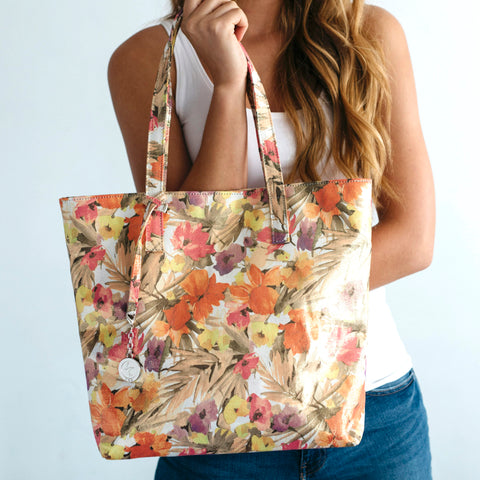 Svala Simma luxury vegan tote handbag in floral