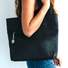 Pinatex Svala Simma vegan tote handbag in black