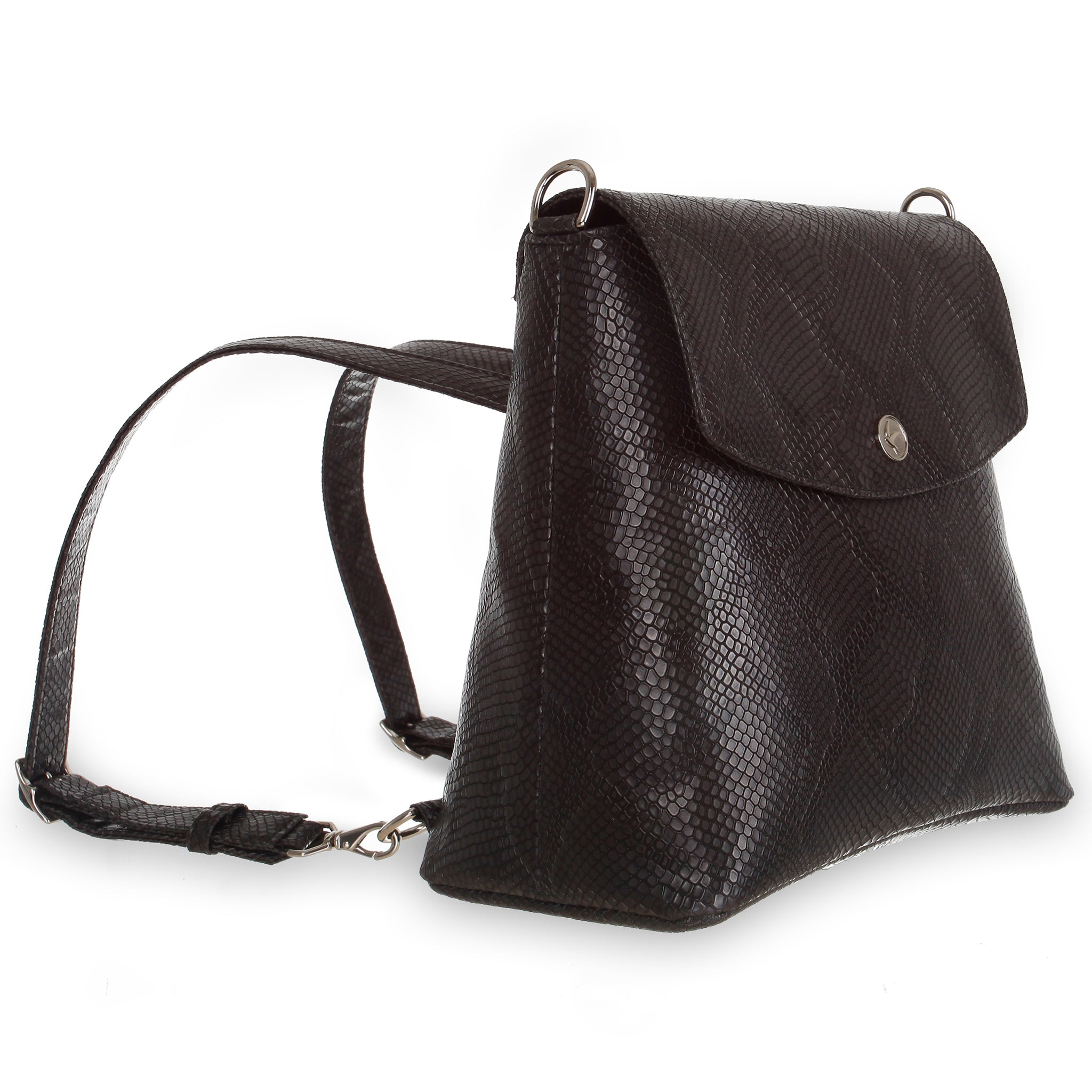 Svala vegan Gemma black backpack purse