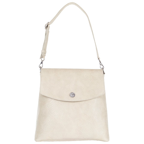 Cream Faux Snakeskin Backpack Purse, Gemma, Svala