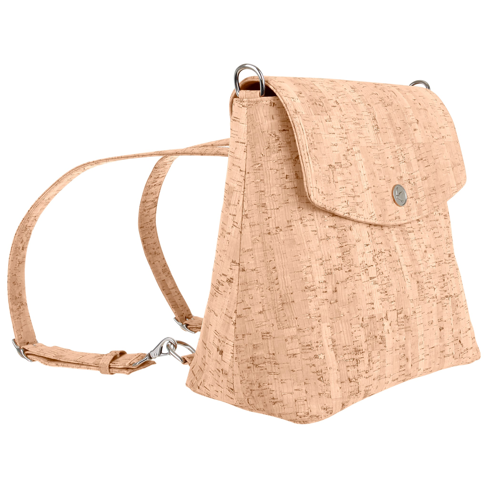 Svala vegan Gemma natural cork backpack purse