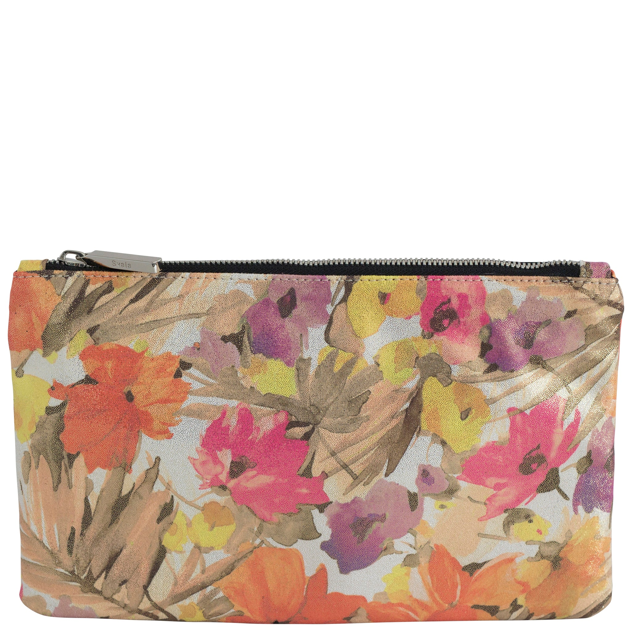 Floral Fabric Cloth Zipper Pouch, Ariel, Svala