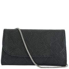 Svala luxury vegan black Didi clutch chain strap handbag
