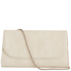 Cream Faux Snakeskin Vegan Leather Purse, Didi, Svala