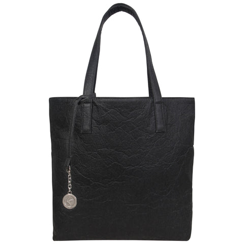 Black Pinatext Leather Tote, Simma, Svala