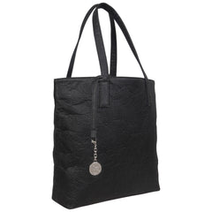 Pinatex vegan tote handbag in black - Svala