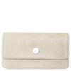 Cream Faux Snakeskin Wallet Purse with Chain, Sara, Svala