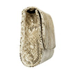 Svala vegan Didi clutch handbag in cream python