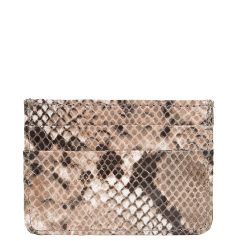Svala vegan Mia card case in beige python