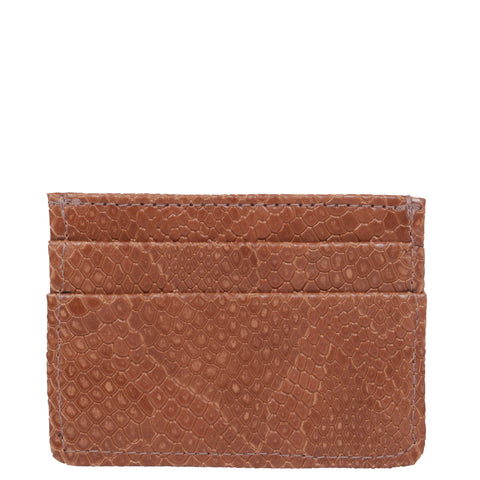 Svala vegan Mia card case in brown faux snakeskin