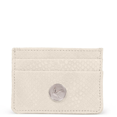 Svala vegan Mia card case in cream faux snakeskin
