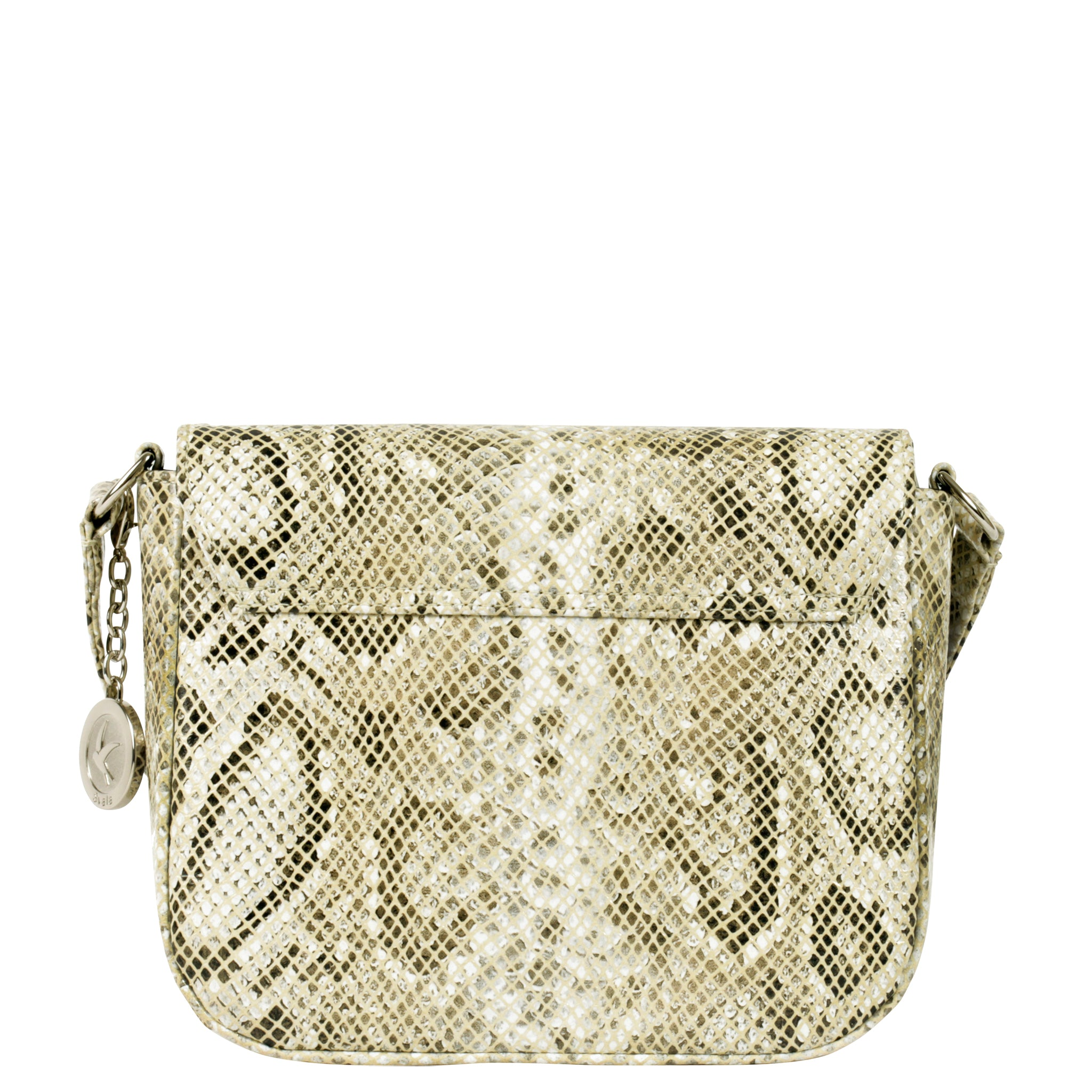 Svala vegan Tashi crossbody handbag in cream python