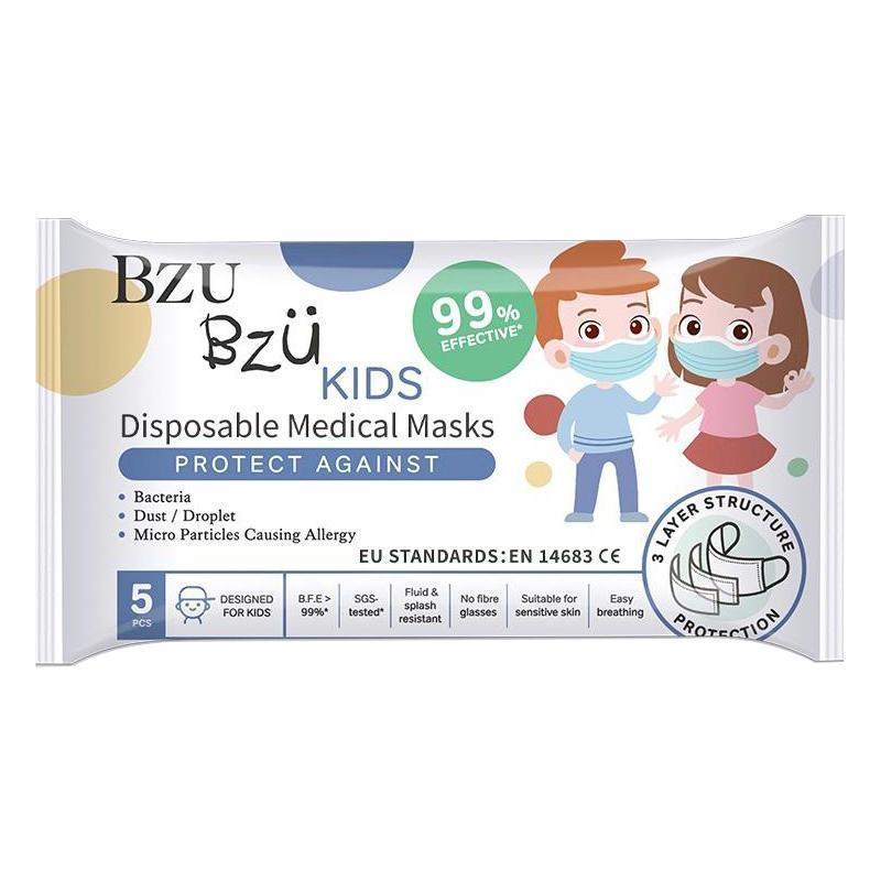 Bzu Bzu Kids Disposable Medical Mask 5s