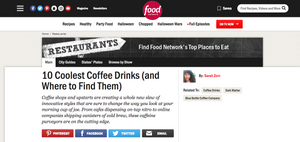Food Network: 10 Coolest Coffee Drinks (and Where to Find Them)
