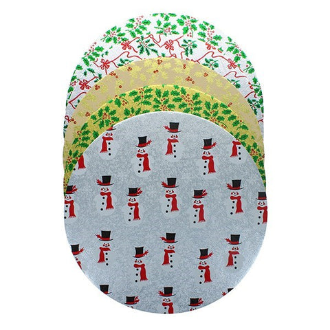 10'' Christmas Double Solid Round Cake Cards (Pack of 10)