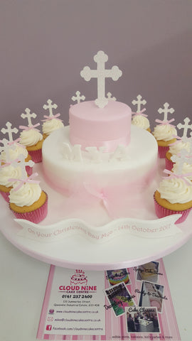 Communion cross glitter topper