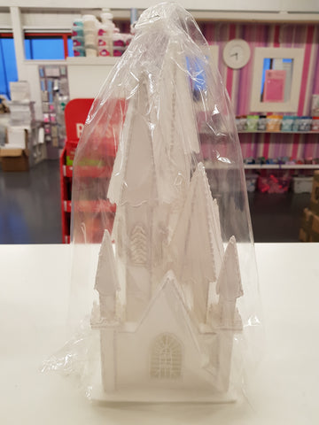 Styrofoam Castle / Church Cake Topper