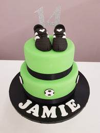 FOOTBALL Cake Kit (including the cakes)