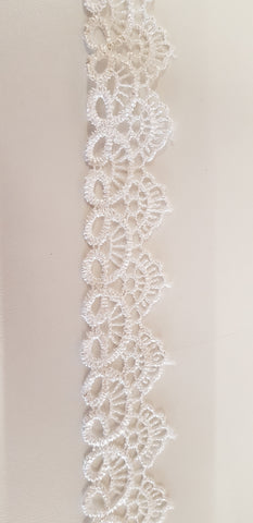 Non-edible scalloped lace ivory/white or black