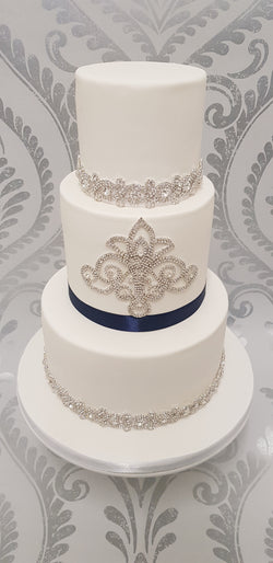 Diamante Crystal Motif Wedding Cake Decoration OUT OF STOCK